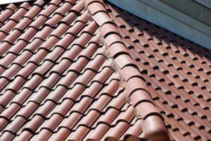 Commonly seen red terracotta tiled roof