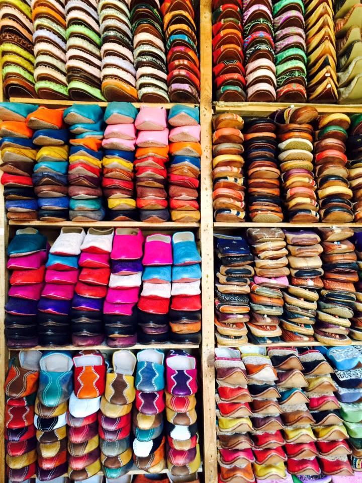 moroccan design colourful shoes