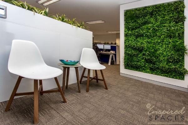 Vertical garden in offices