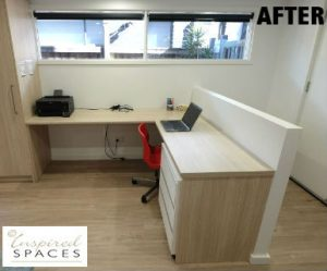 Desk after basement conversion