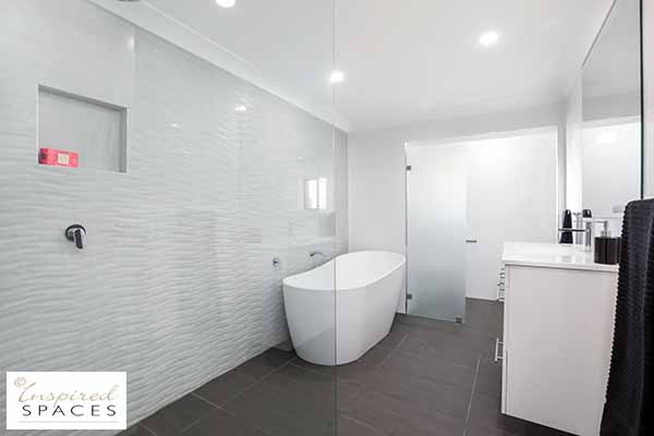 Crisp white bathroom after renovation