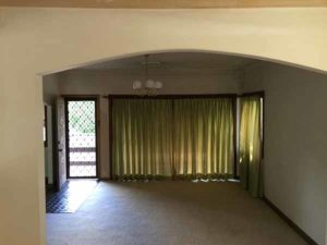 Before renovation: The arch separated the living areas