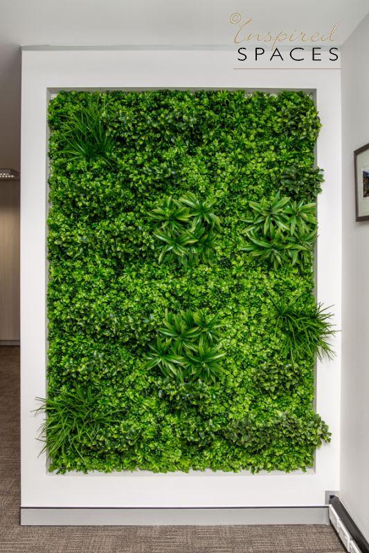 Vertical garden in office design