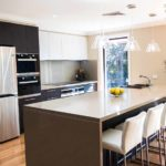 The new kitchen is functional yet beautiful
