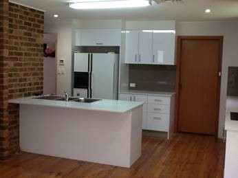 Prior to the renovation, the kitchen was dated and too small for the family's needs
