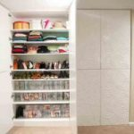 Organised shoes on easy to access shelves