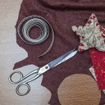 Handmade christmas decoration, Star made of fabric