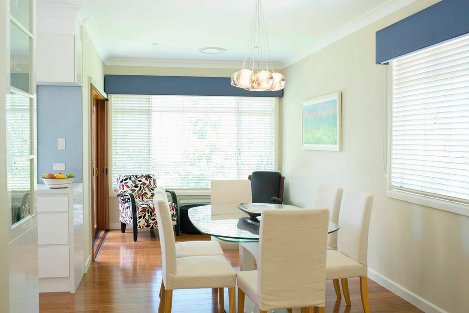 selecting the right colour using bold blue with neutrals