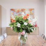 freshly cut spring flower bouquet