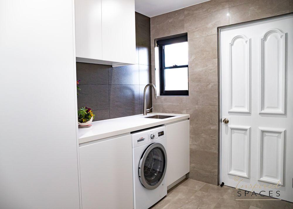modern laundry renovation