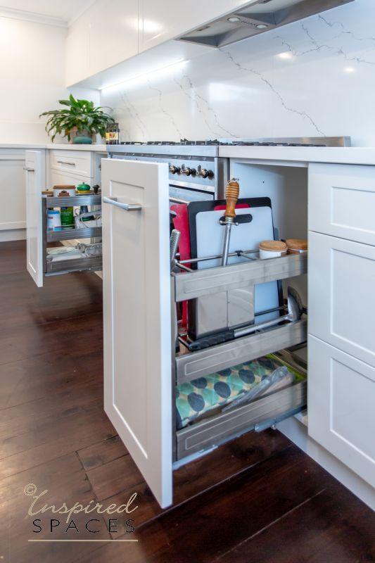 Kitchen storage drawer