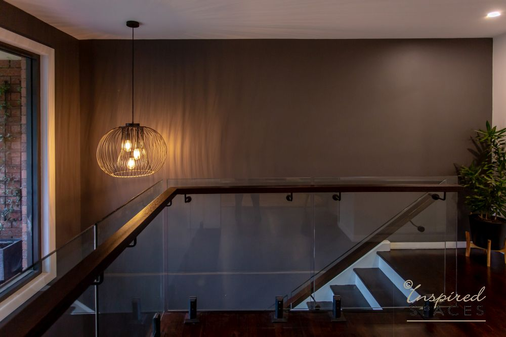 contemporary pendant for staircase