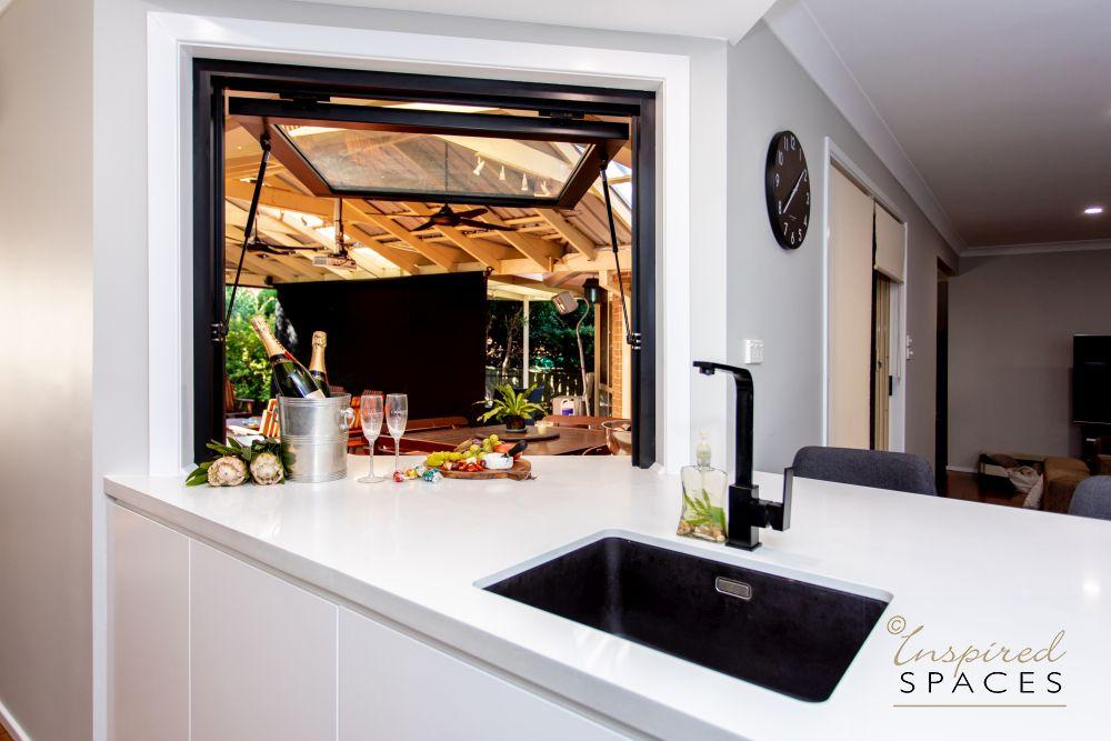 Kitchen window servery design