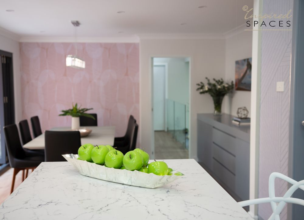Pink acoustic wallcovering