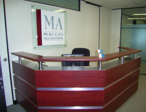 Reception at accounting firm in Parramatta
