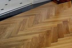 Herringbone style timber floor