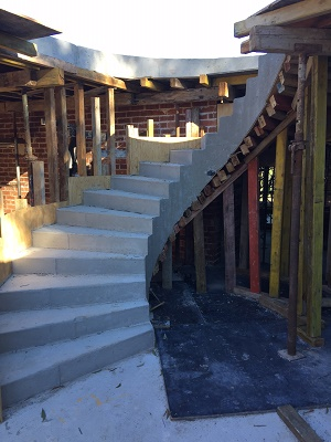 New spiral staircase has been constructed