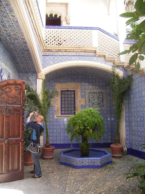 Decorative talavera style tiles can also give your bathroom an authentic Spanish look.
