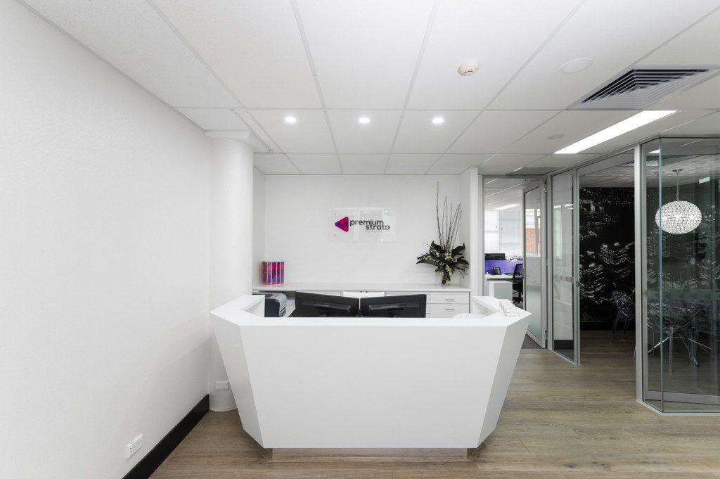 Bon Commercial Office Reception Desk Premiumstrata Surry Hills Sydney
