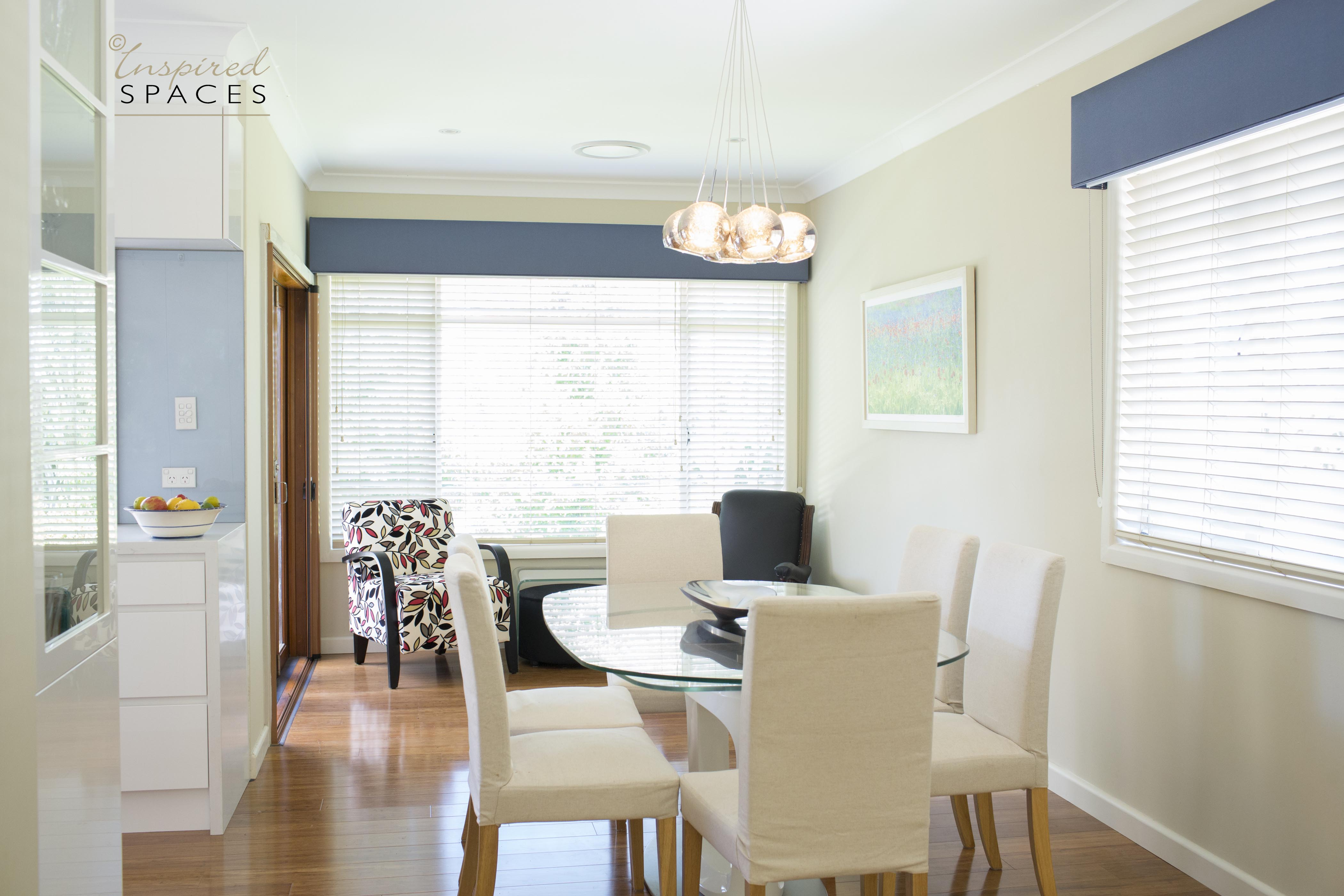 open plan dining, kitchen and sitting room
