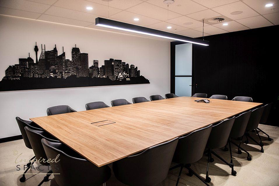 polytec woodmatt prime oak boardroom table
