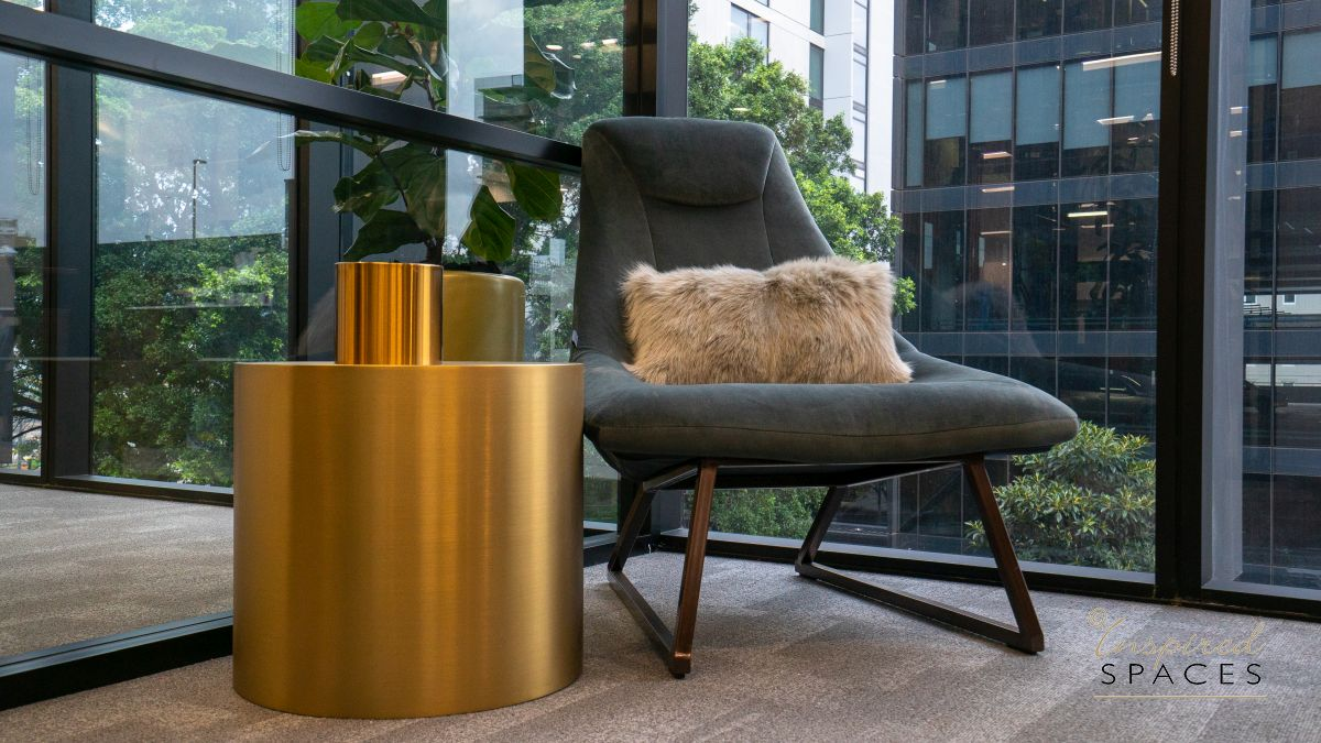 feature chair and brass drum