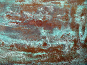 Interior design terms - Copper patina - an aged metal look