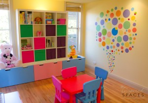 Bright colours appeal to children